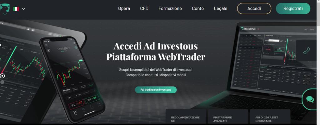 sito ufficiale del broker investous